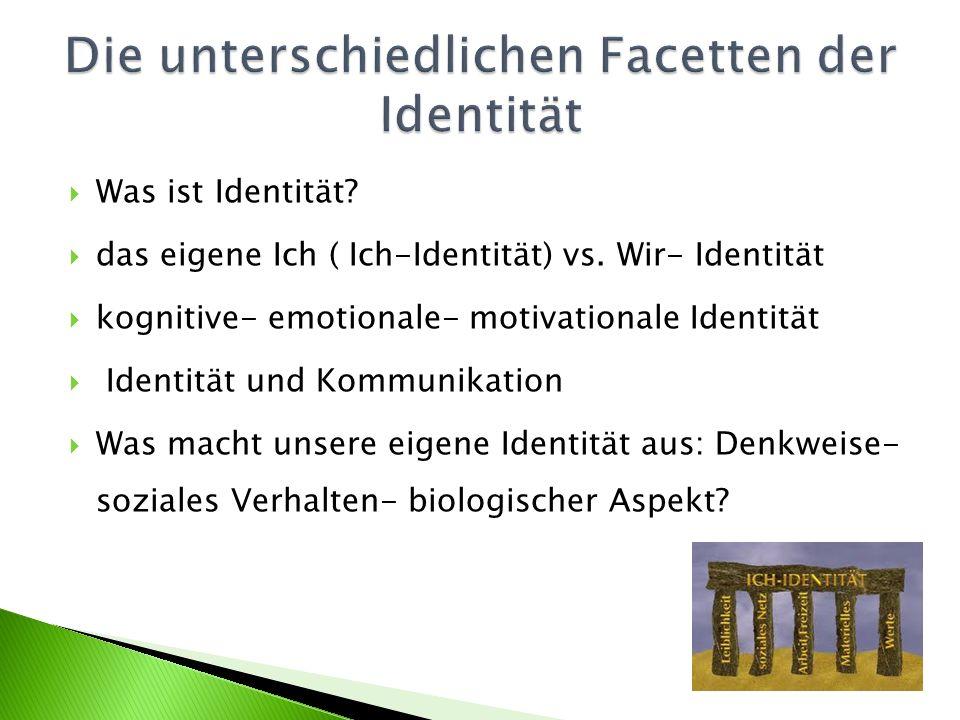 Was ist Identität. das eigene Ich ( Ich-Identität) vs.