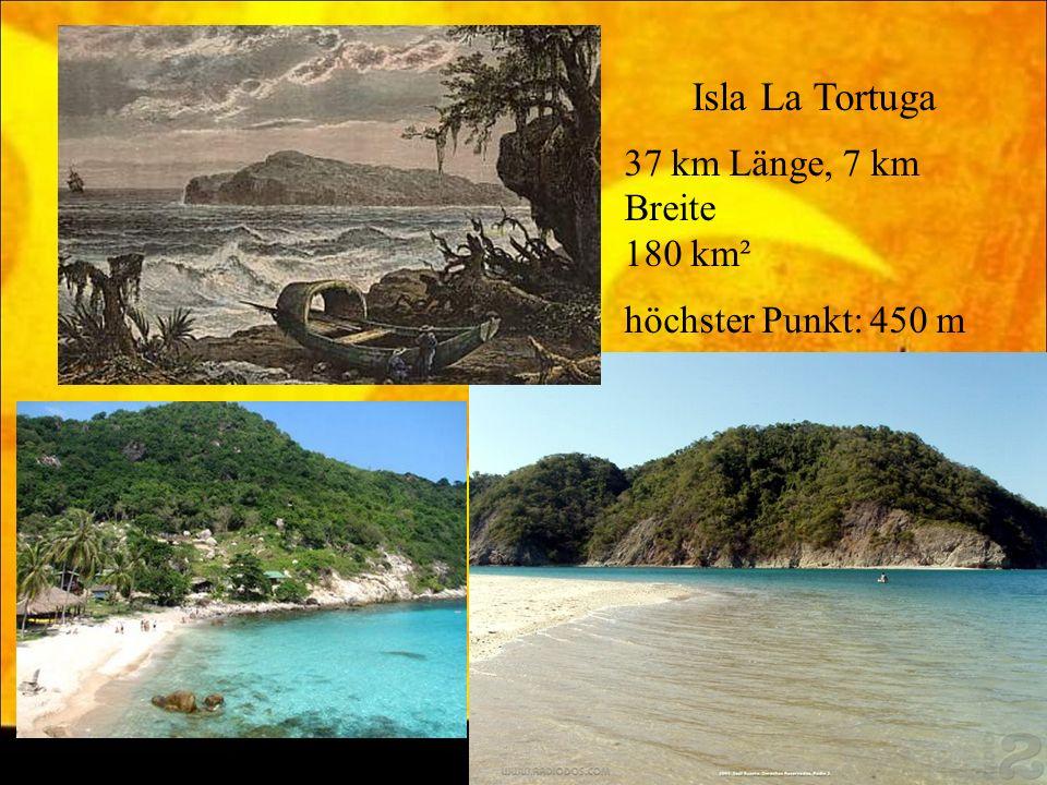 Isla La Tortuga 37 km Länge, 7 km Breite 180 km² höchster Punkt: 450 m