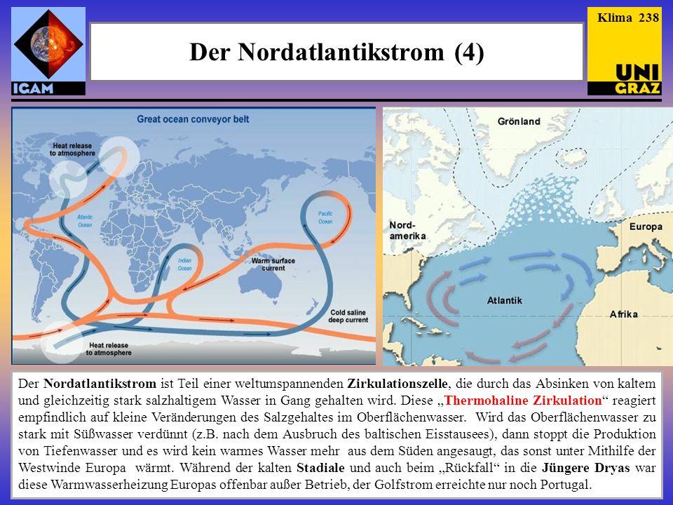 Der Nordatlantikstrom (4) Der Nordatlantikstrom ist Teil einer weltumspannenden Zirkulationszelle, die durch das Absinken von kaltem und gleichzeitig