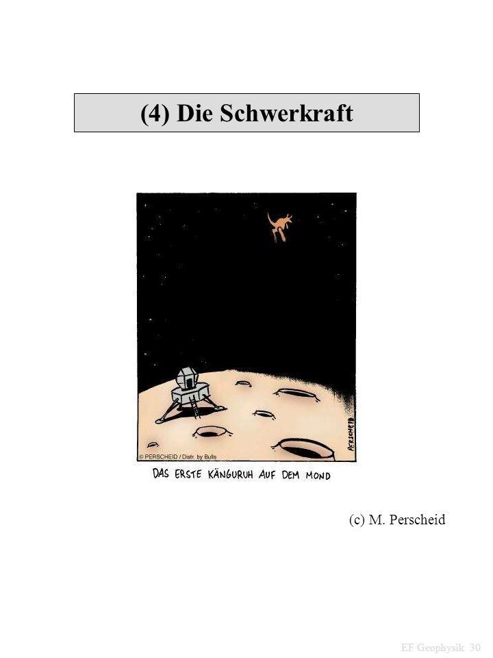 (4) Die Schwerkraft EF Geophysik 30 (c) M. Perscheid