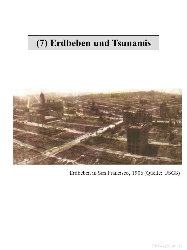 (7) Erdbeben und Tsunamis EF Geophysik 57 Erdbeben in San Francisco, 1906 (Quelle: USGS)