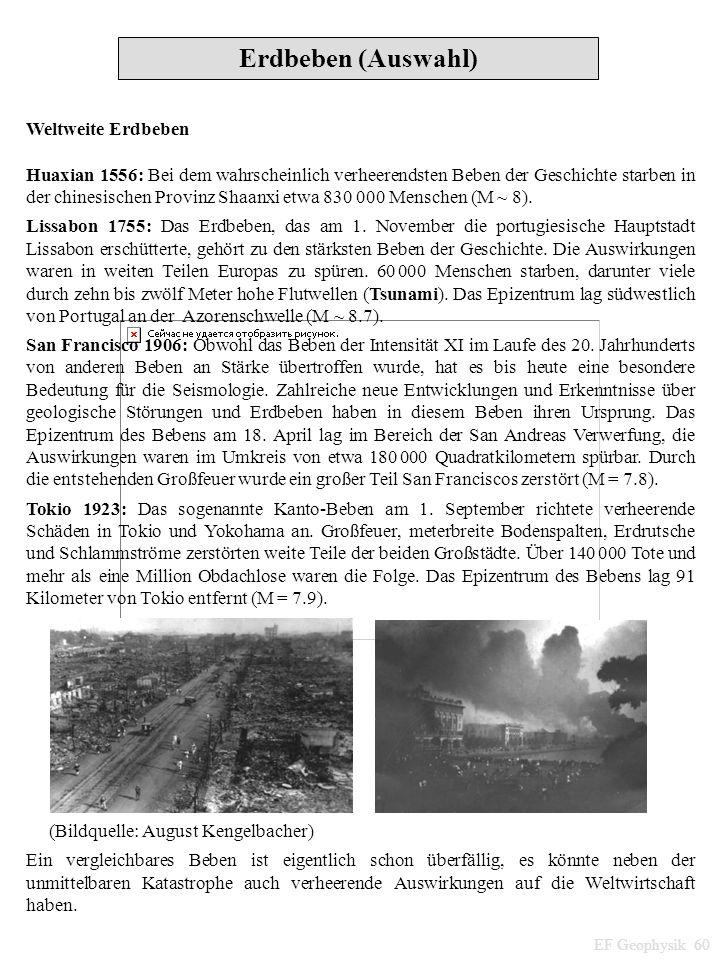 Weltweite Erdbeben Huaxian 1556: Bei dem wahrscheinlich verheerendsten Beben der Geschichte starben in der chinesischen Provinz Shaanxi etwa 830 000 M