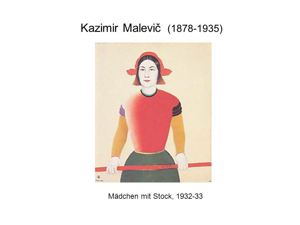 Kazimir Malevič (1878-1935) Mädchen mit Stock, 1932-33