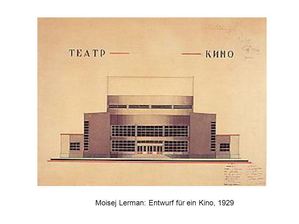 Moisej Lerman: Entwurf für ein Kino, 1929