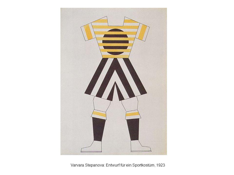 Varvara Stepanova: Entwurf für ein Sportkostüm, 1923