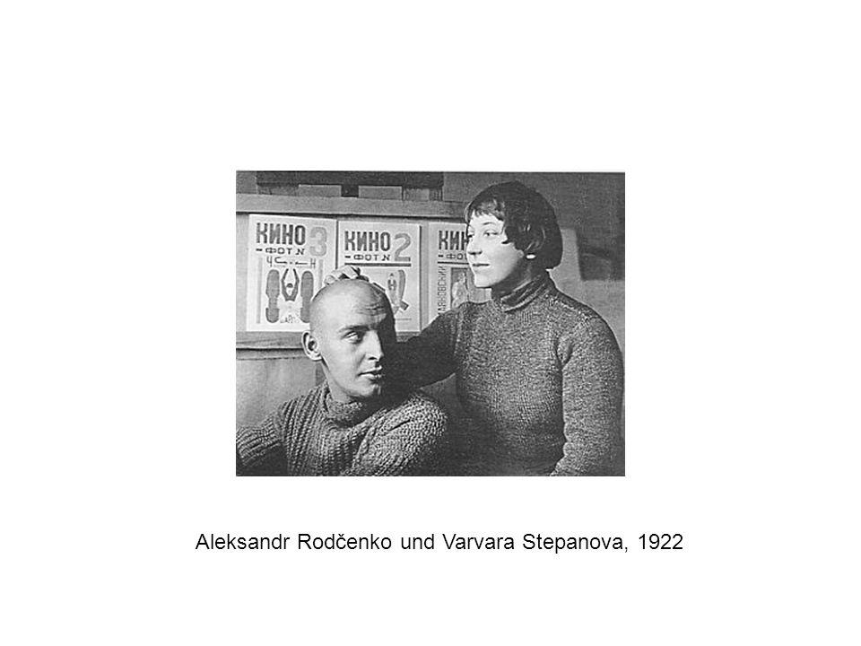 Aleksandr Rodčenko und Varvara Stepanova, 1922