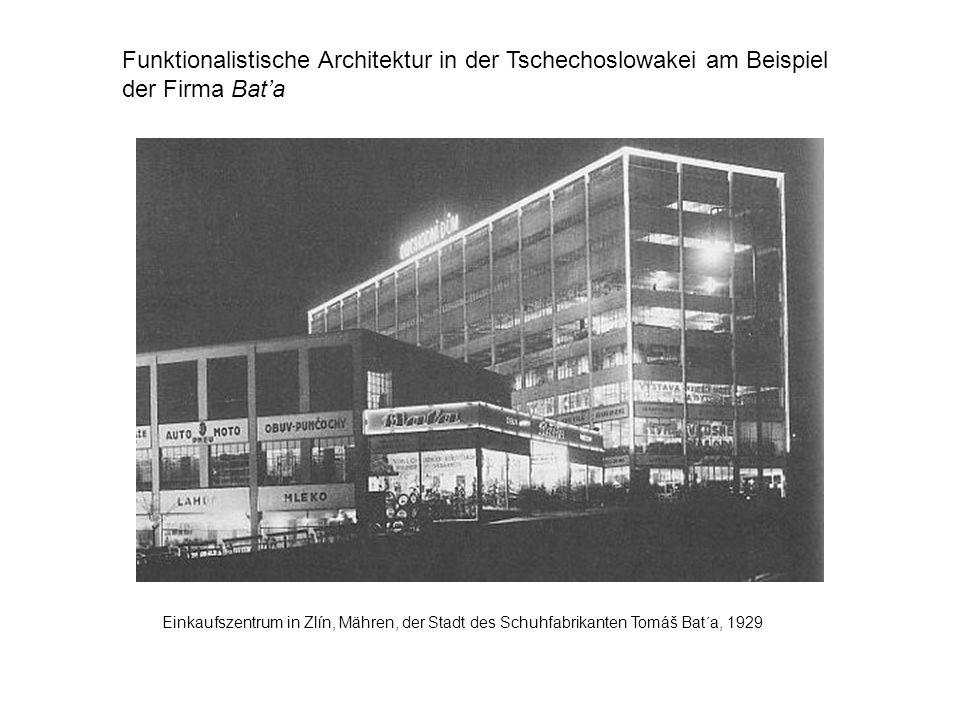 Einkaufszentrum in Zlín, Mähren, der Stadt des Schuhfabrikanten Tomáš Bat´a, 1929 Funktionalistische Architektur in der Tschechoslowakei am Beispiel d