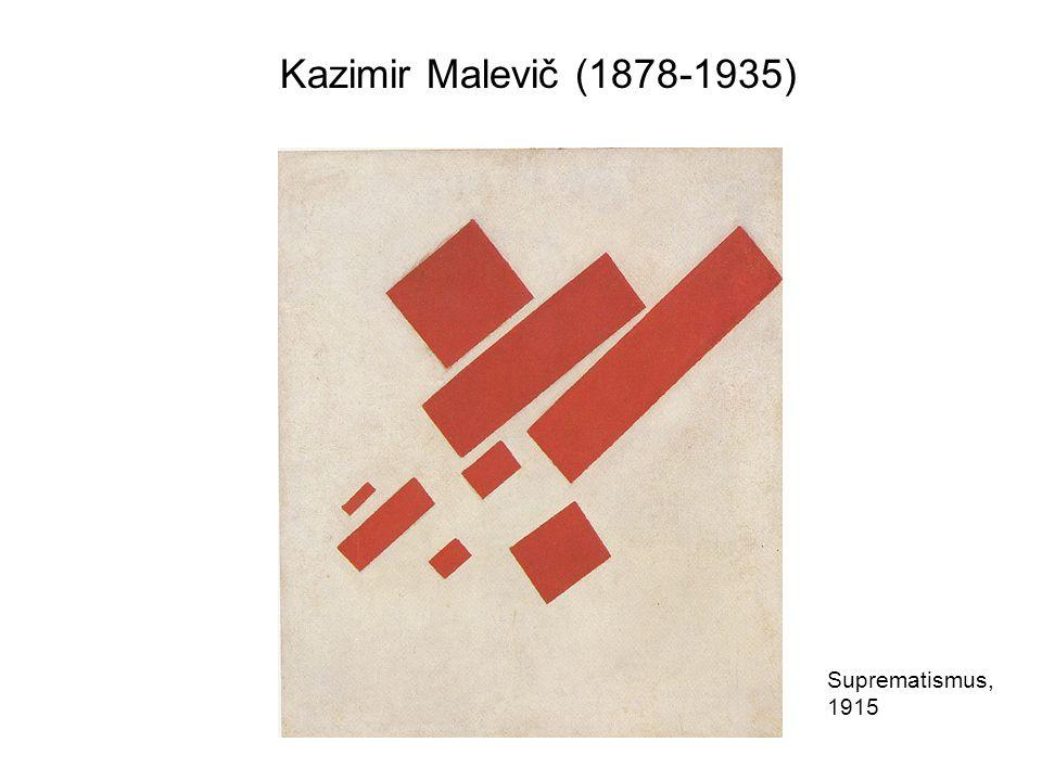 Kazimir Malevič: Alpha- Architekton 1921 Die sogenannten Architektone sind suprematistische Arbeiten mit neutral-weißen Kuben, die nicht als statisch konzipiert sind, vielmehr sollten ihre Elemente vom Betrachter neu kombiniert werden.
