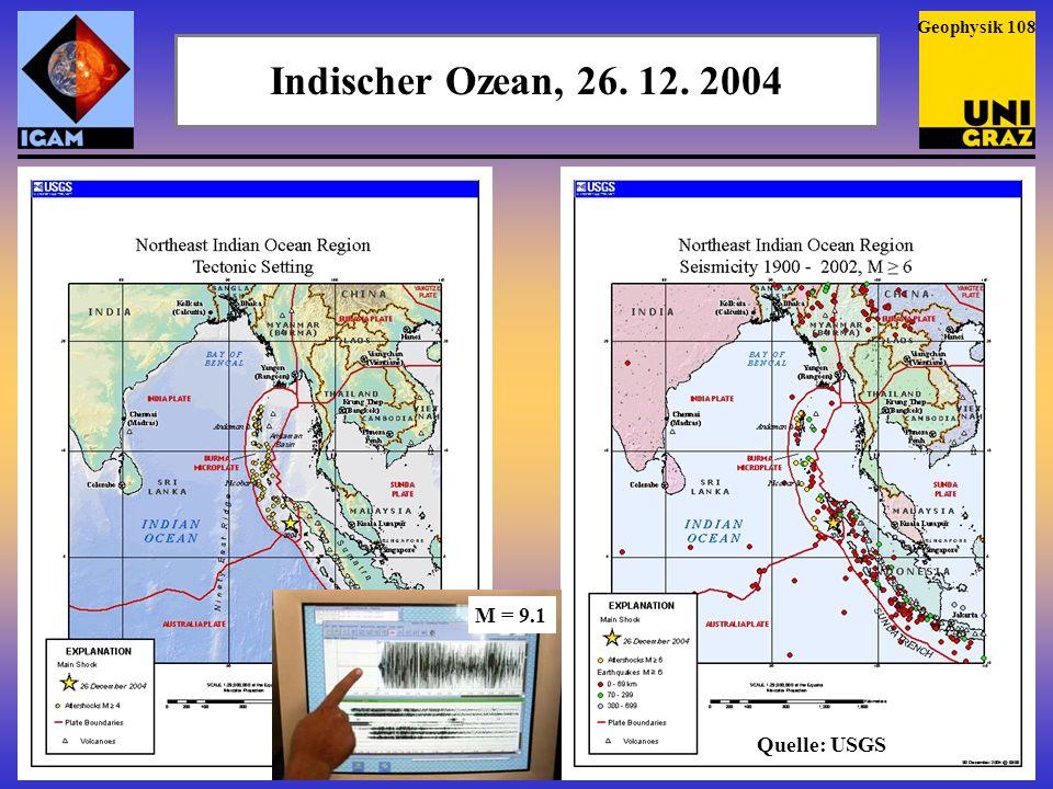 Indischer Ozean, 26.12. 2004 Das Beben vom 26. 12.