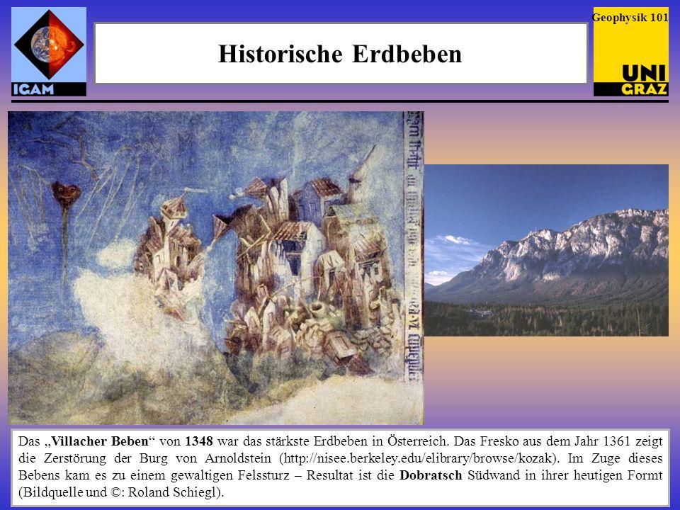 Erdbeben in Österreich Geophysik 102