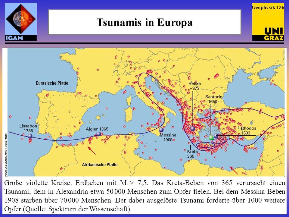 Tsunamis in Europa Vor etwa 8000 Jahren ereignete sich am Ätna ein gewaltiger Berg- sturz.
