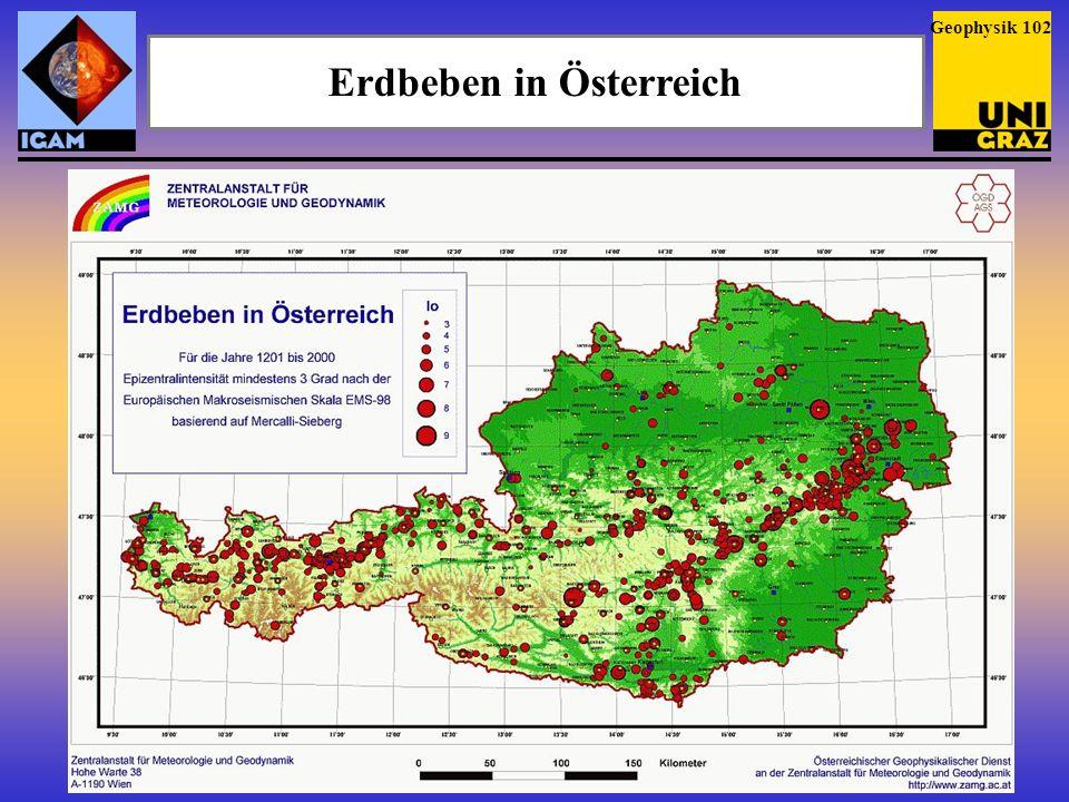 Erdbebengefahr in Österreich Die stärksten österreichischen Erdbeben – auch solche ohne Schadenswirkungen – treten durchwegs in den zumeist gut bekannten Erdbebengebieten auf; am häufigsten in Nordtirol (Unterinntal, Lechtaler Alpen) und in der Zone Murtal, Mürztal – Semmering – südliches Wiener Becken (dort nahe der Thermenlinie).