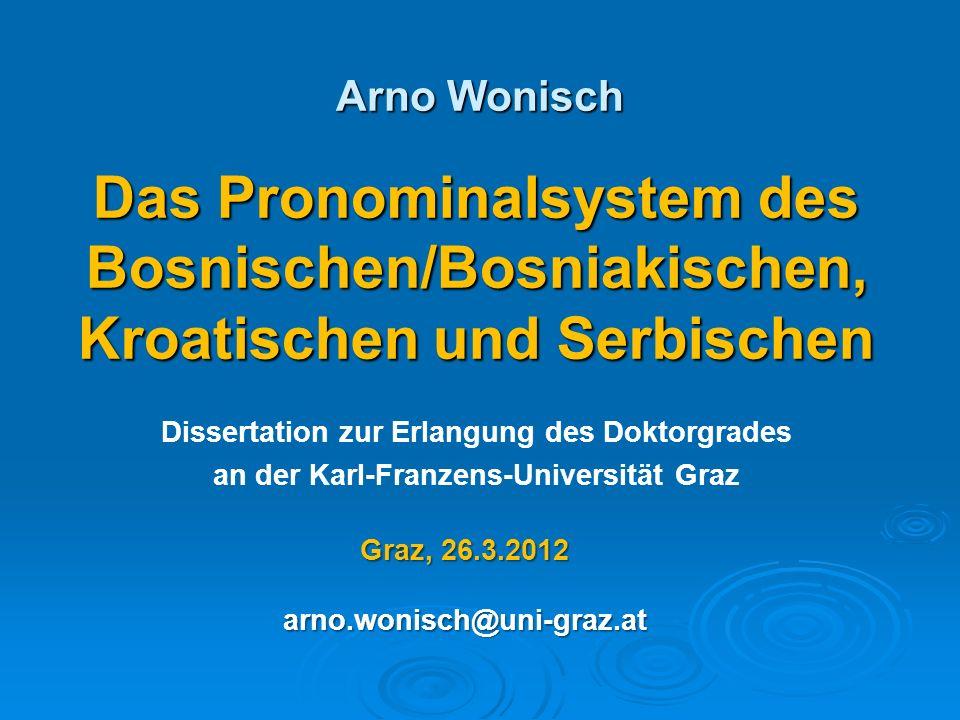 Inhalt I.Pronomina – Allgemeines II. Korrelationsmodelle III.