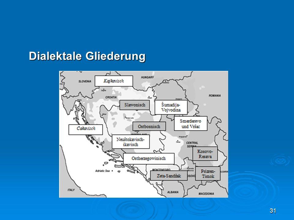Dialektale Gliederung 31