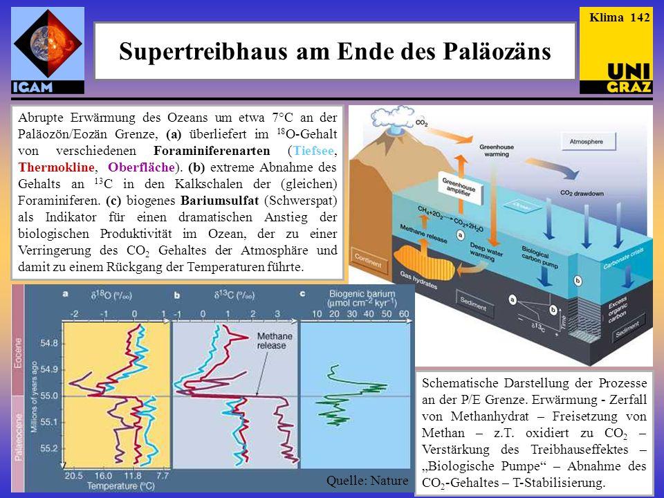 Supertreibhaus am Ende des Paläozäns Das Mineral Baryt besteht aus Bariumsulfat, Vergrößerung: 2800:1 (Quelle: Eye of Science).