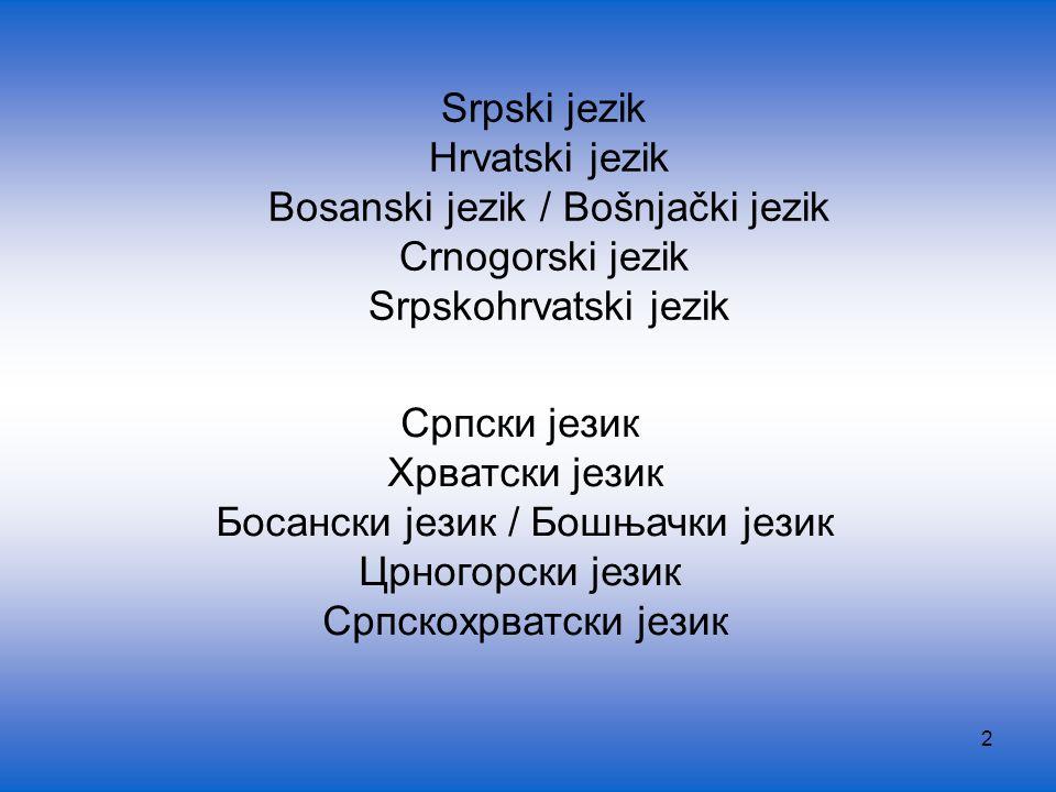 43 Bosniaken (die muslimische Bosnier) – Bošnjaci Eigene Sprache bosanski jezik – bošnjački jezik