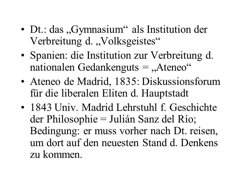 Dt.: das Gymnasium als Institution der Verbreitung d.