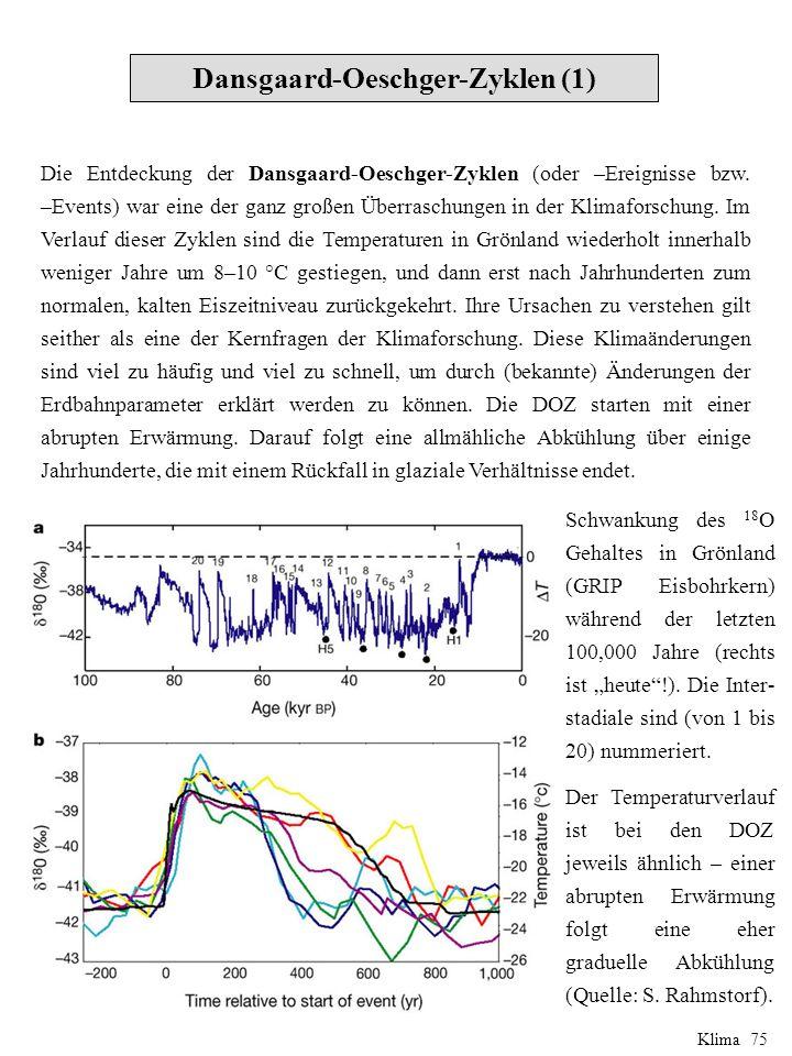 Die Jüngere Dryas (4) Klima 86 Quelle: IPCC
