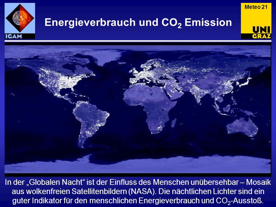In der Globalen Nacht ist der Einfluss des Menschen unübersehbar – Mosaik aus wolkenfreien Satellitenbildern (NASA). Die nächtlichen Lichter sind ein