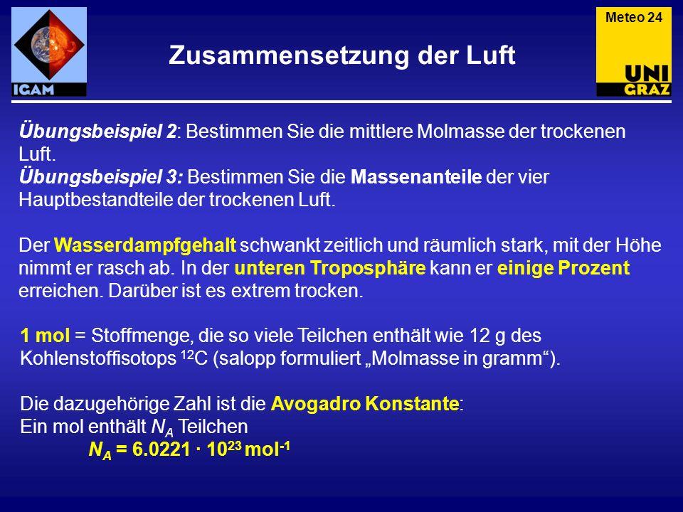 (3) Allgemeine Gasgleichung Meteorologie und Klimaphysik Meteo 25