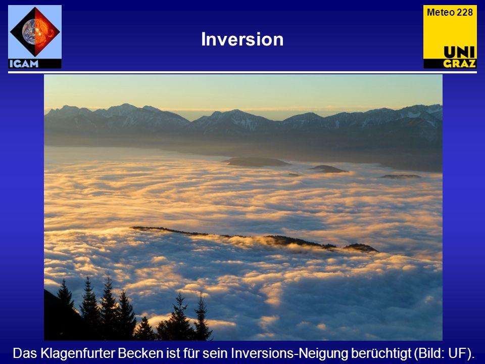 Inversion Das Klagenfurter Becken ist für sein Inversions-Neigung berüchtigt (Bild: UF). Meteo 228