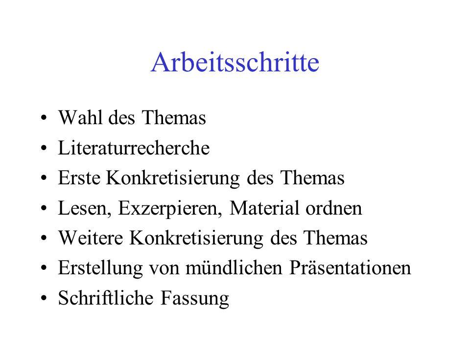 Beispiele für Literaturverzeichnisse I Monographien, Lexika, Sammelbände: ARON R.