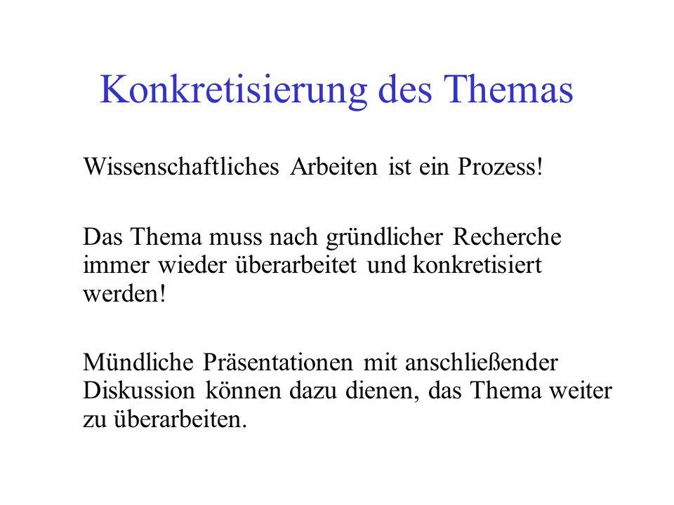 Ablagesystem Alphabetische Ordnung nach Namen der Autoren oder: Ordnung nach Schlagworten wie Jugendkriminalität etc.