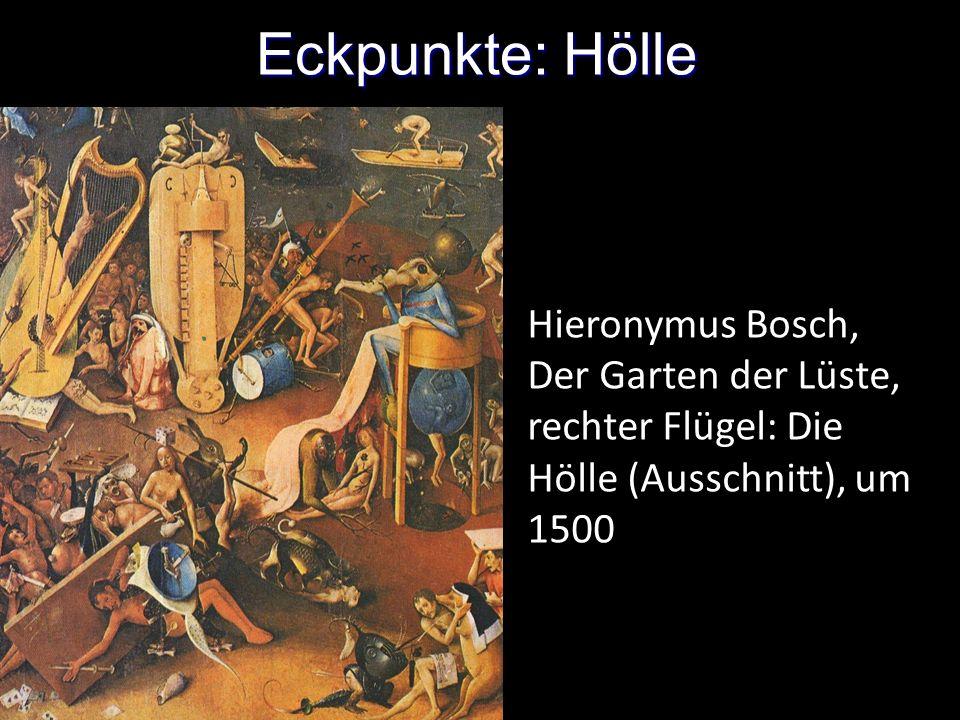 Eckpunkte: Hölle Hieronymus Bosch, Der Garten der Lüste, rechter Flügel: Die Hölle (Ausschnitt), um 1500