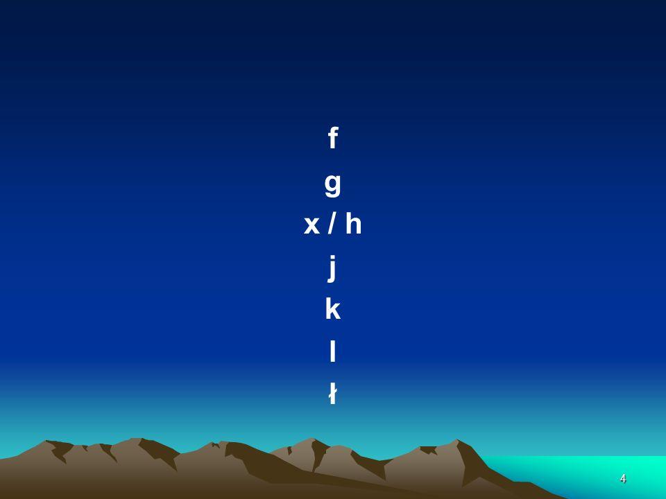 4 f g x / h j k l ł