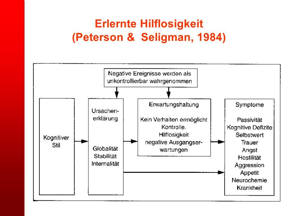 Erlernte Hilflosigkeit (Peterson & Seligman, 1984)