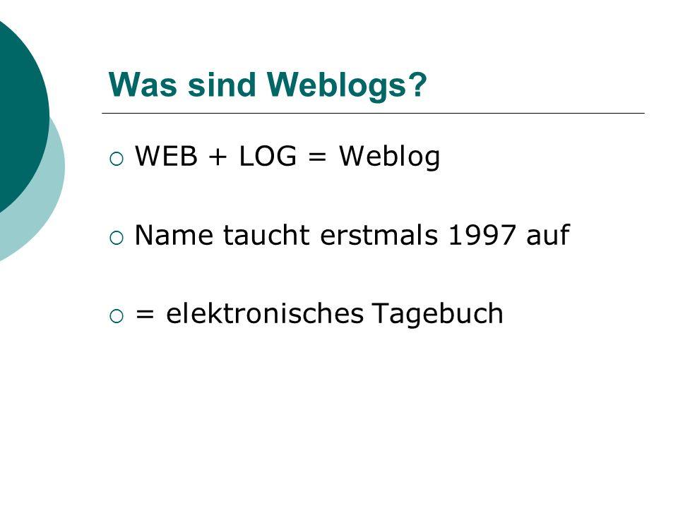 Weblog erstellen www.livejournal.com 1) Blaue Box anklicken