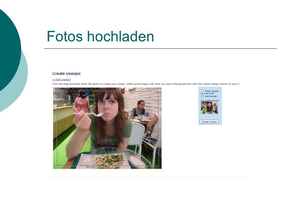 Fotos hochladen