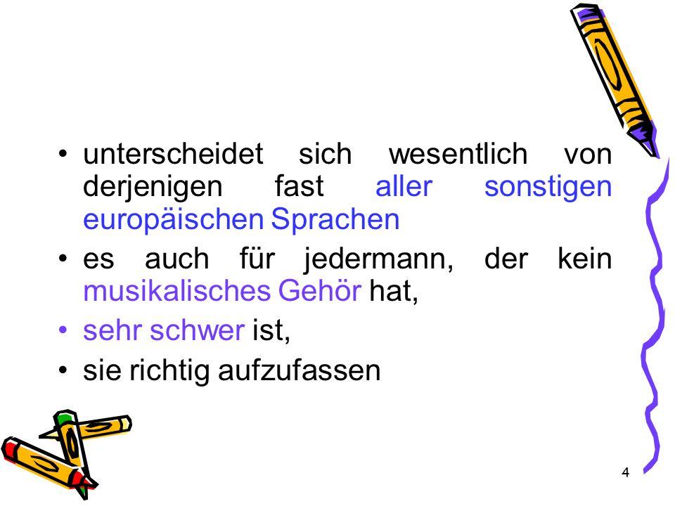 35 1) in mehrsilbigen Wörtern nie die letzte Silbe betont d rei kurze Regeln