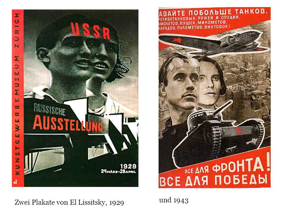Zwei Plakate von El Lissitsky, 1929 und 1943