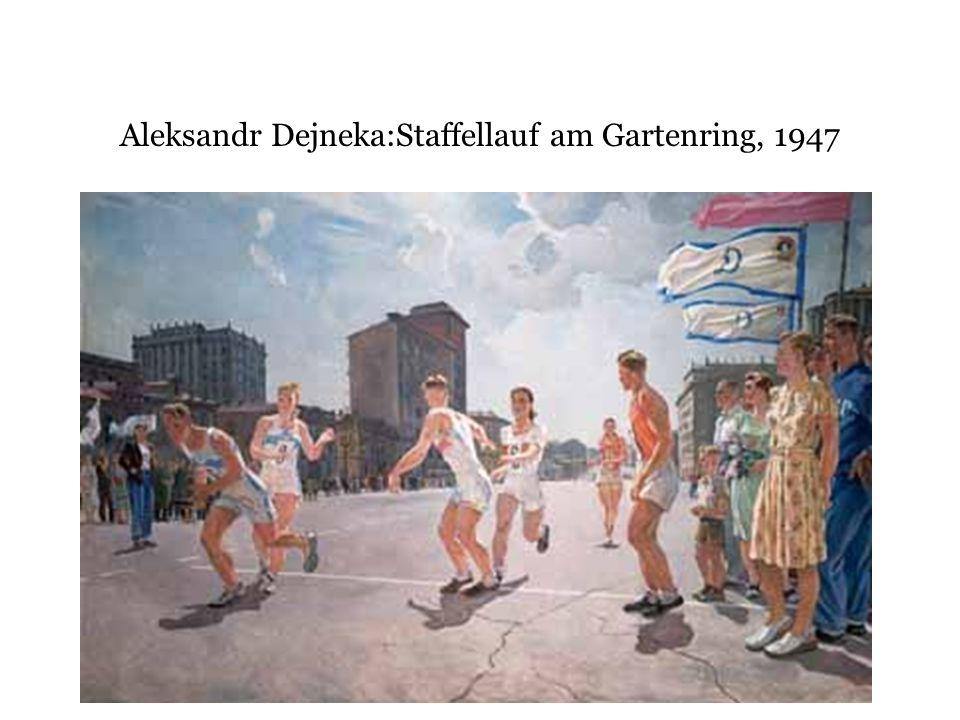 Aleksandr Dejneka:Staffellauf am Gartenring, 1947