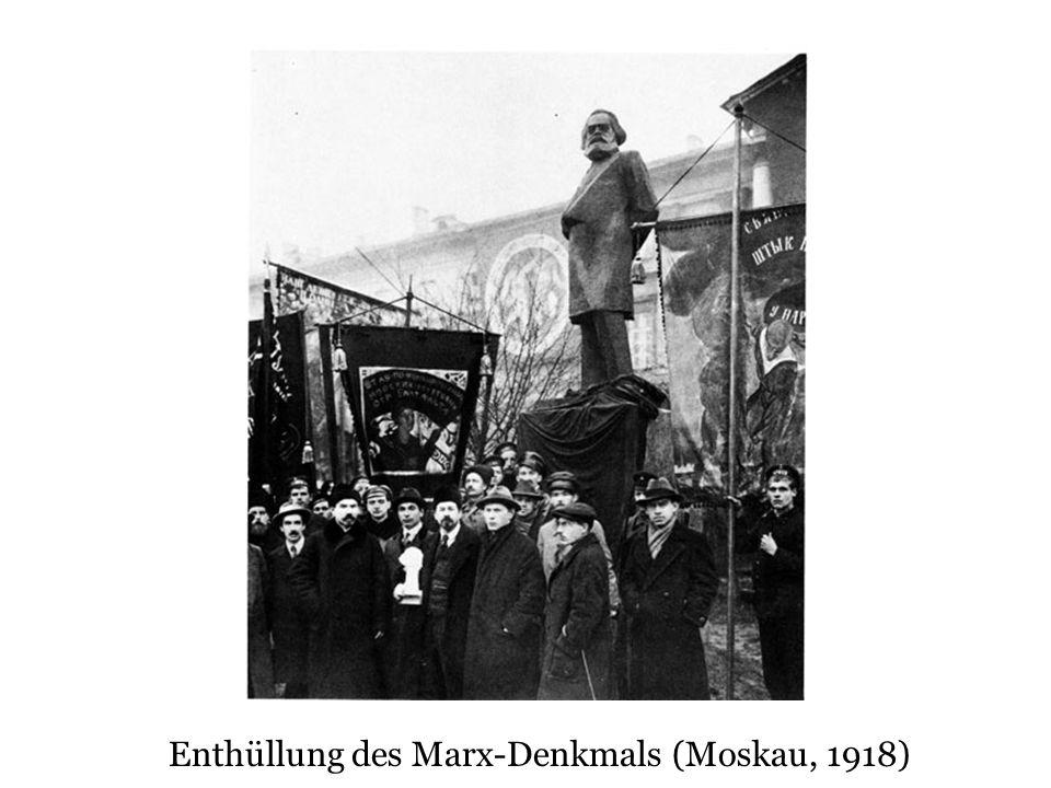Denkmal im Aleksandrovskij sad (neben Kreml), Moskau 1918 Das erste Denkmal nach der Oktoberrevolution