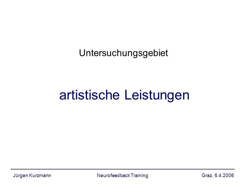 Graz, 6.4.2006Jürgen KurzmannNeurofeedback Training artistische Leistungen Untersuchungsgebiet