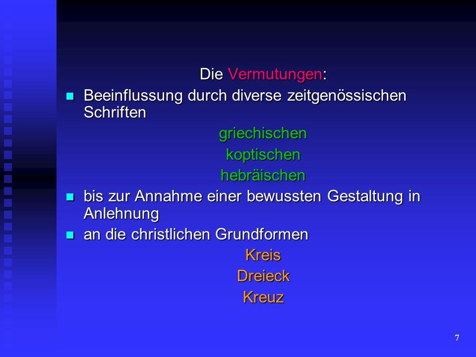 6 ist bis heute umstritten ist bis heute umstritten welche Schriftsysteme die Glagolica inspiriert haben könnten