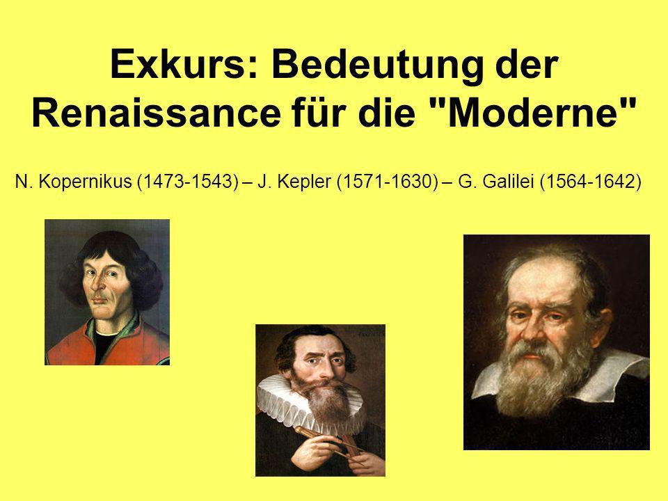 Exkurs: Bedeutung der Renaissance für die Moderne N.