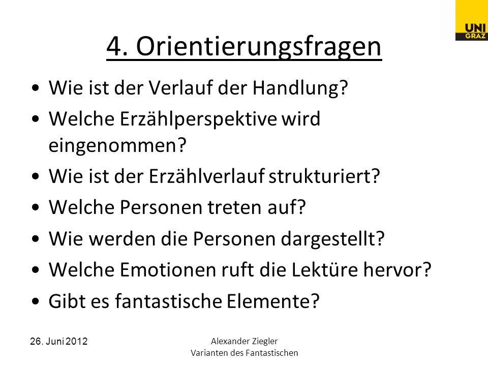 26. Juni 2012Alexander Ziegler Varianten des Fantastischen 4.