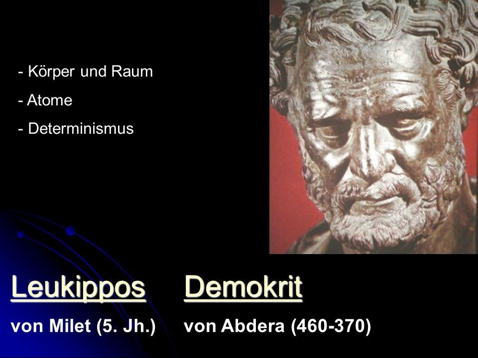 Epikur 341-270 - Materialismus - Determinismus - Unschärfe