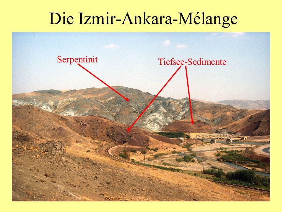 Die Izmir-Ankara-Mélange Serpentinit Tiefsee-Sedimente