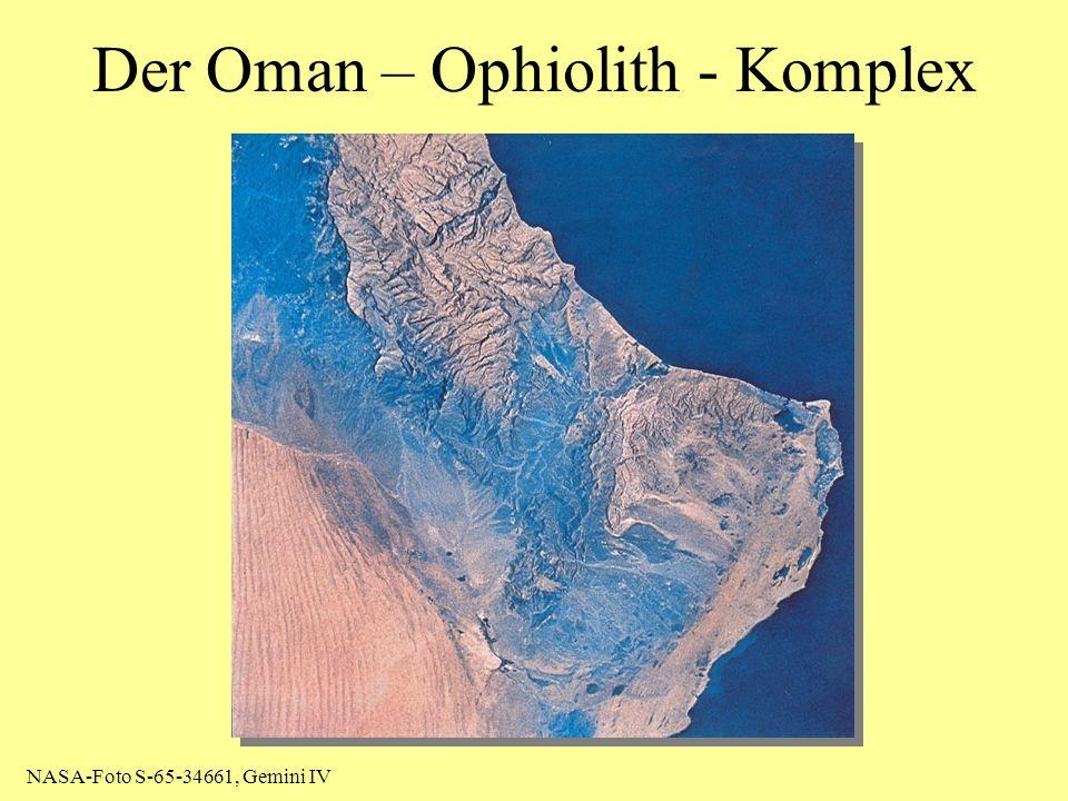 Der Oman – Ophiolith - Komplex NASA-Foto S-65-34661, Gemini IV