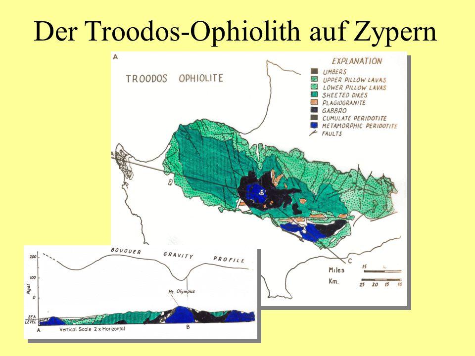 Der Troodos-Ophiolith auf Zypern