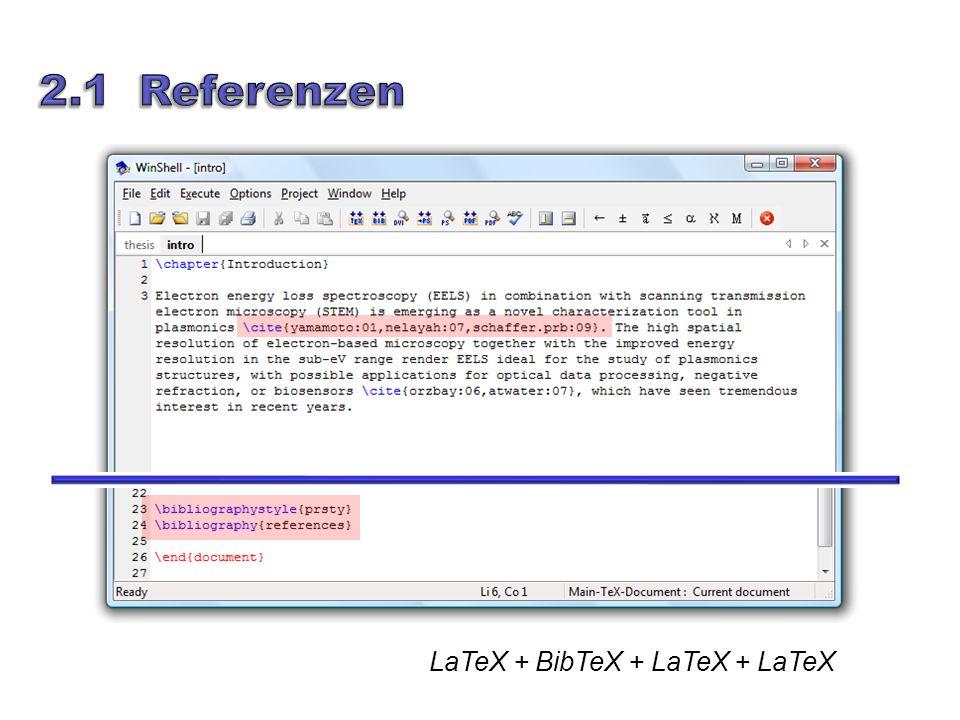 LaTeX + BibTeX + LaTeX + LaTeX