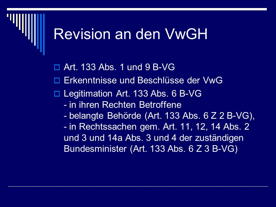 Revision an den VwGH Art.133 Abs.