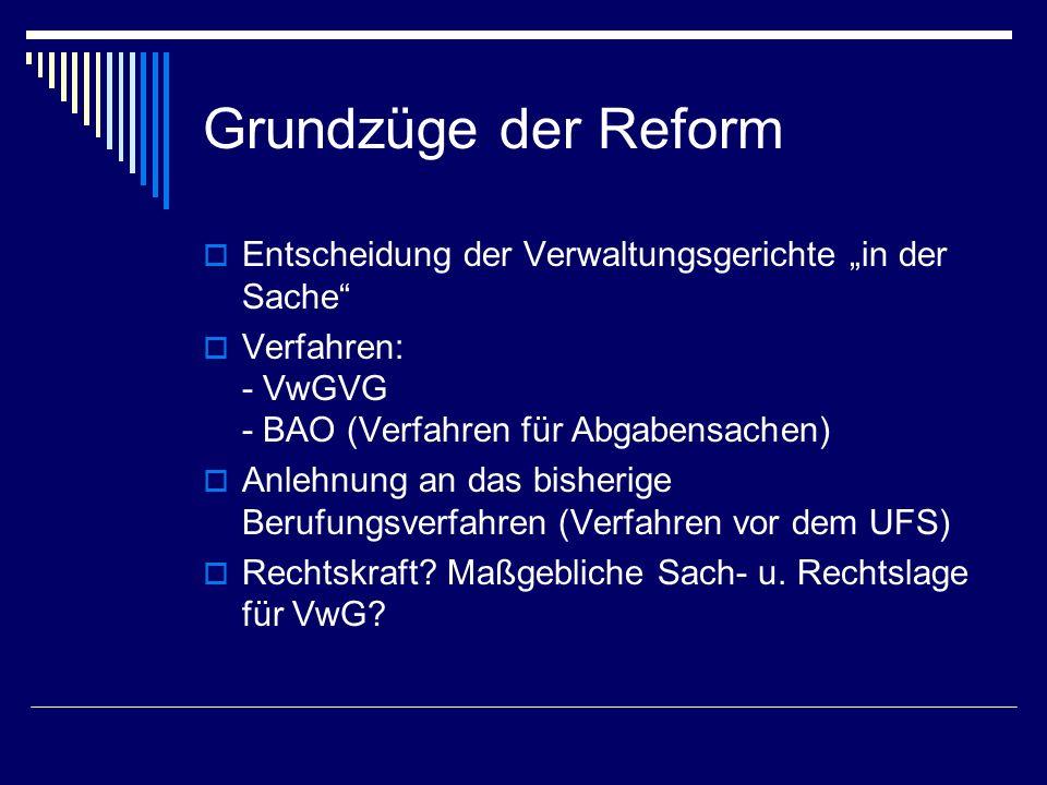 Verwaltungsgerichtsbarkeit Aufgabe der strikten Formenbindung Art.