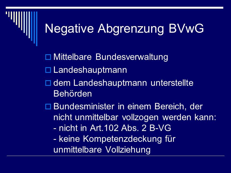 Resümee Kompetenzabgrenzung zwischen BVwG und Landesverwaltungsgerichten: Vollzugsbereich, in dem der Akt ergeht
