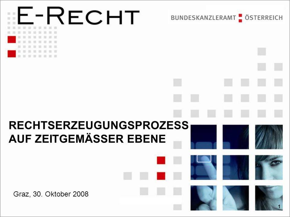 RECHTSERZEUGUNGSPROZESS AUF ZEITGEMÄSSER EBENE Graz, 30. Oktober 2008 1