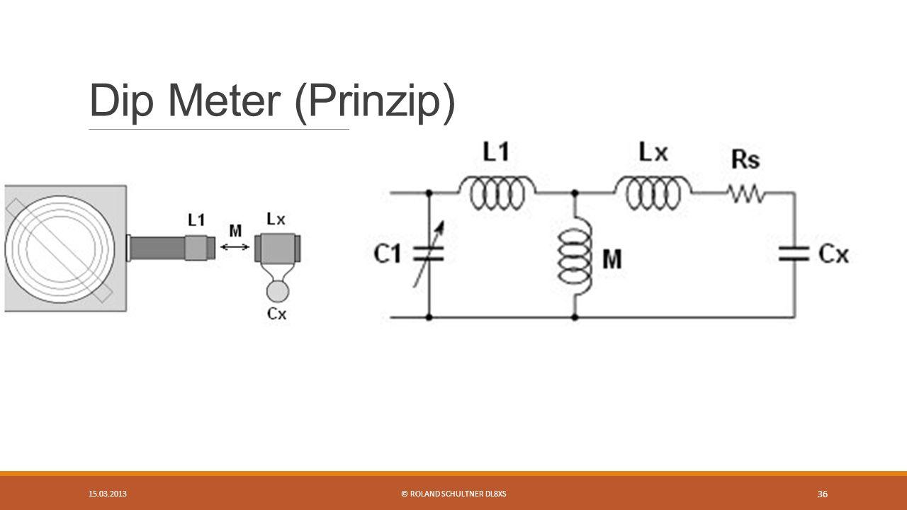 Dip Meter (Prinzip) 15.03.2013© ROLAND SCHULTNER DL8XS 36